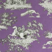 Gutermann Fabric Toile French Cottage Purple - per quarter metre
